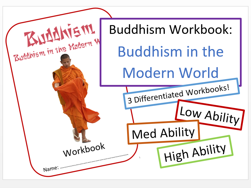 Buddhism in the Modern World: Differentiated Workbooks Bundle!