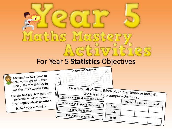 Statistics Mastery Activities – Year 5