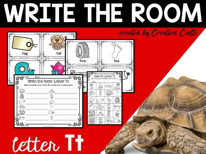 Alphabet Write the Room - Letter T