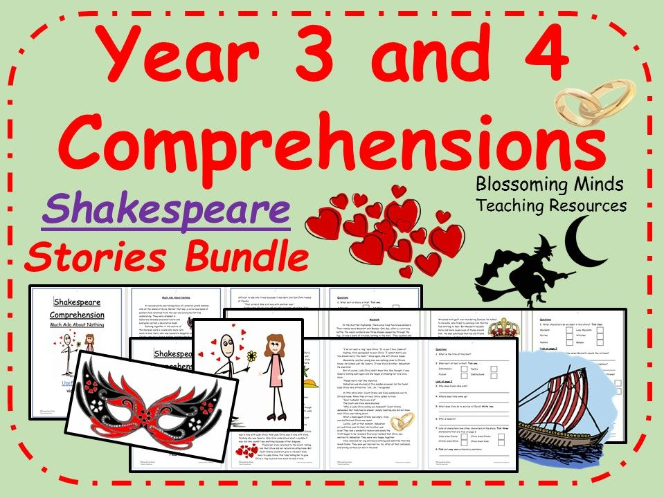 Shakespeare - Stories Comprehensions Bundle - Lower KS2