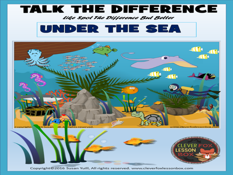Discuss (Spot) The Difference- Under The Sea