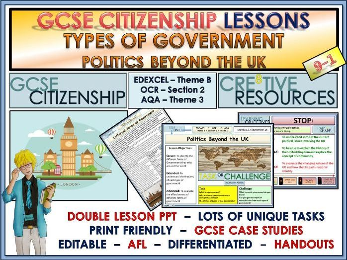 Lessons - Types of Governments and Political Systems - GCSE Citizenship 9-1