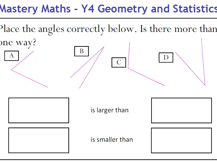 Mastery Maths - Year 4 Geometry and Statistics