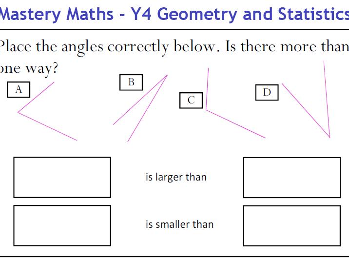 Mastery Maths - Year 4 Geometry and Statistics
