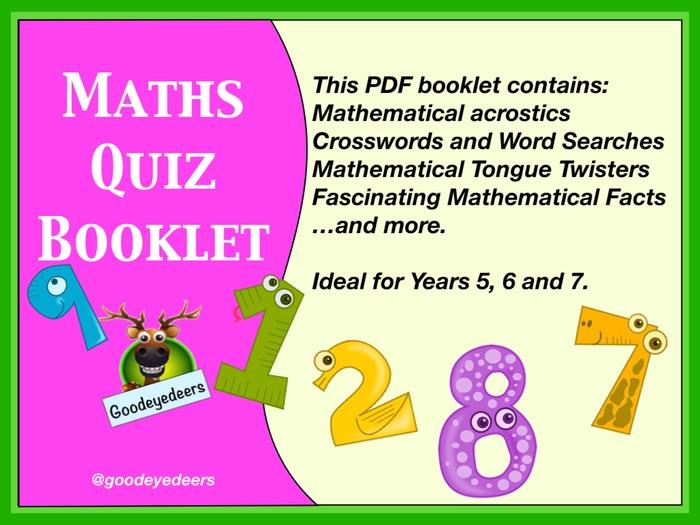 Maths Quiz Booklet