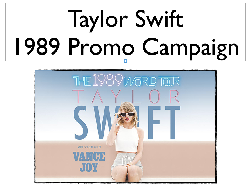 BTEC MUSIC LEVEL 3 UNIT 17 MARKETING & PROMOTION TAYLOR SWIFT 1989 ANALYSIS OF CAMPAIGN *macs*