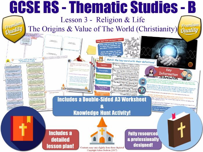 The Origins & Value of The World (Christian Views) [GCSE RS - Religion & Life - L3/10] Theme B