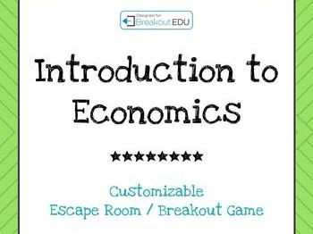 Introduction to Economics Customizable Escape Room Game