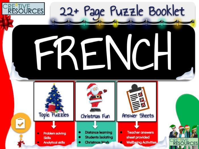 French MFL Noel Christmas Activities