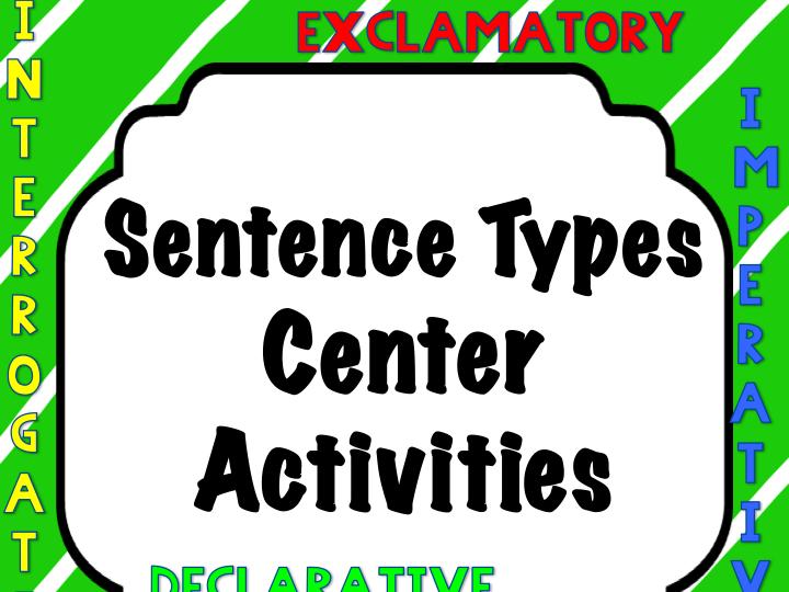 Sentence Types Activities: Cootie Catchers, Puzzles, Color Sentences Sentence Types Act