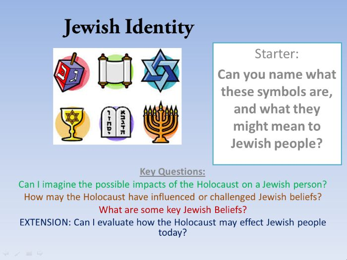Jewish Identity & 1000 yrs of anti-semitism