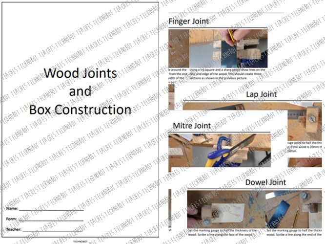 Wood joints and box construction booklet