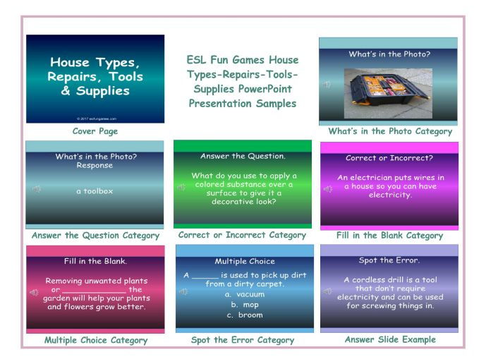 House Types-Repairs-Tools-Supplies PowerPoint Presentation