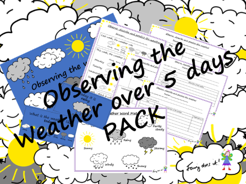 Weather Observation and Recording PACK - Record over 5 days