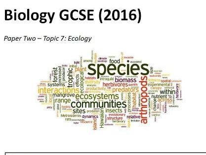 Topic 7 Ecology Booklet GCSE Biology AQA