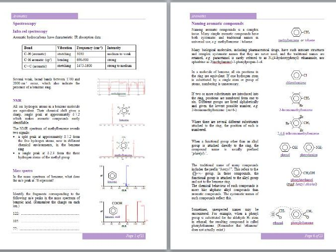 Aromatics Workbook - A-Level Chemistry