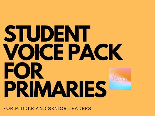 Student Voice Feedback Sheet Pack Primary