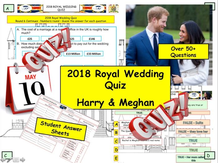 Royal Wedding Quiz 2018