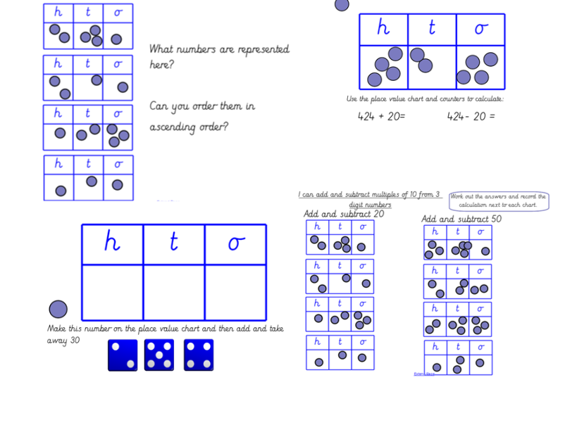 Huge Year 3 Bundle Place Value and Adding and Subtracting 1, 2 and 3 Digit Numbers