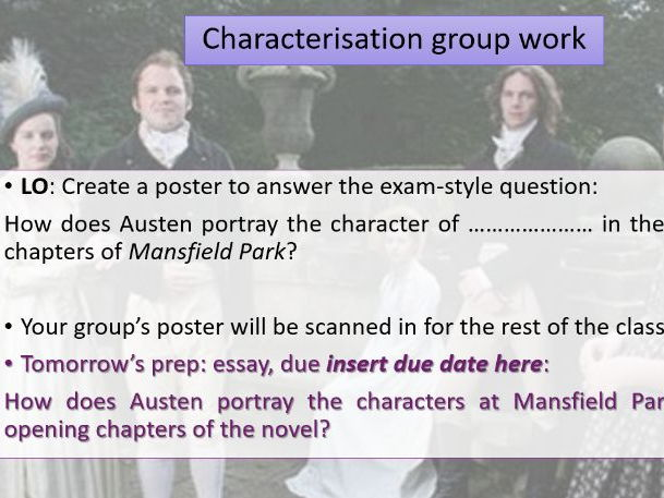 Characterisation in 'Mansfield Park'