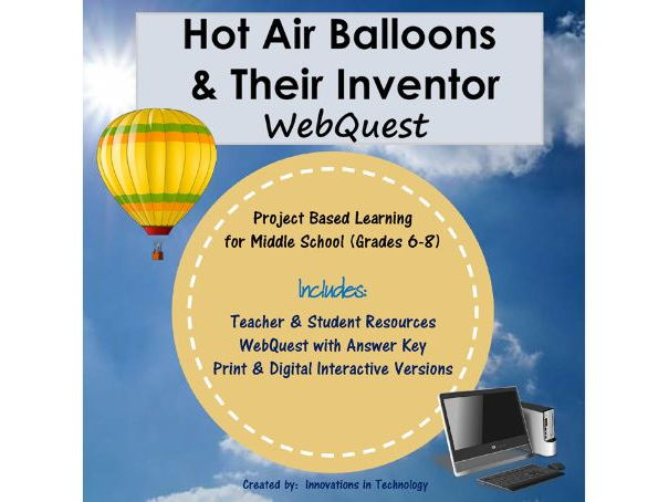 Hot Air Balloons & Their Inventory - WebQuest / Internet Scavenger Hunt
