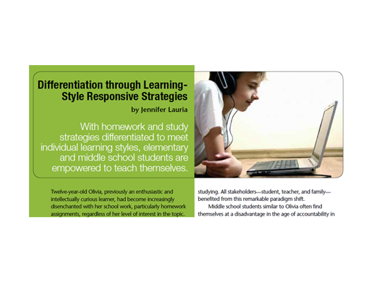 Differentiation through Learning-Style Responsive Strategies