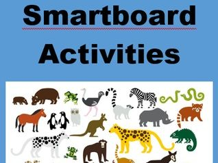 Animals Game board for Smartboard