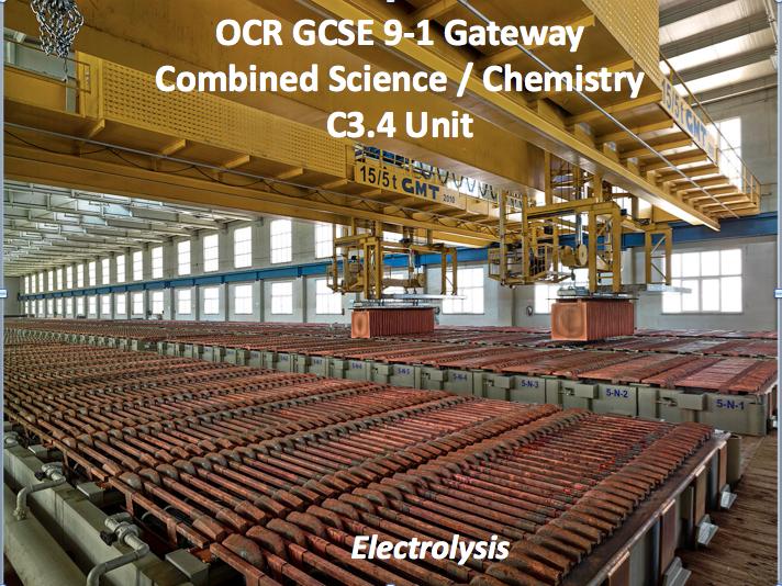 OCR GCSE 9-1 Gateway Combined Science / Chemistry C3.4 Unit