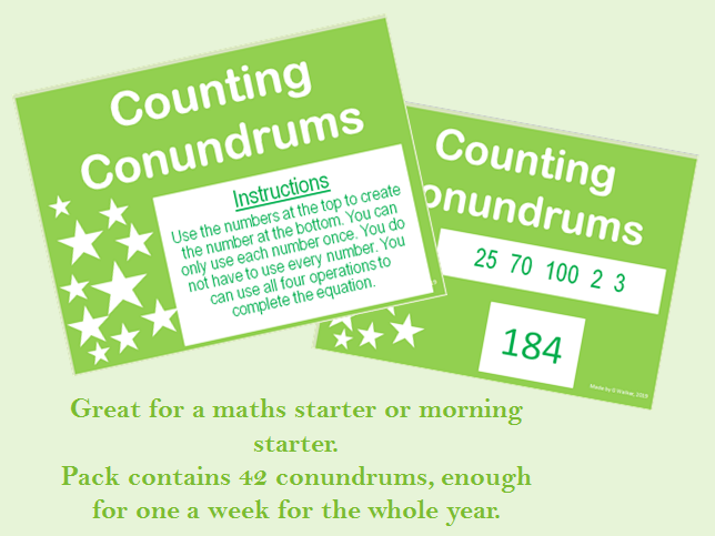 Counting Conundrums - Maths Starter