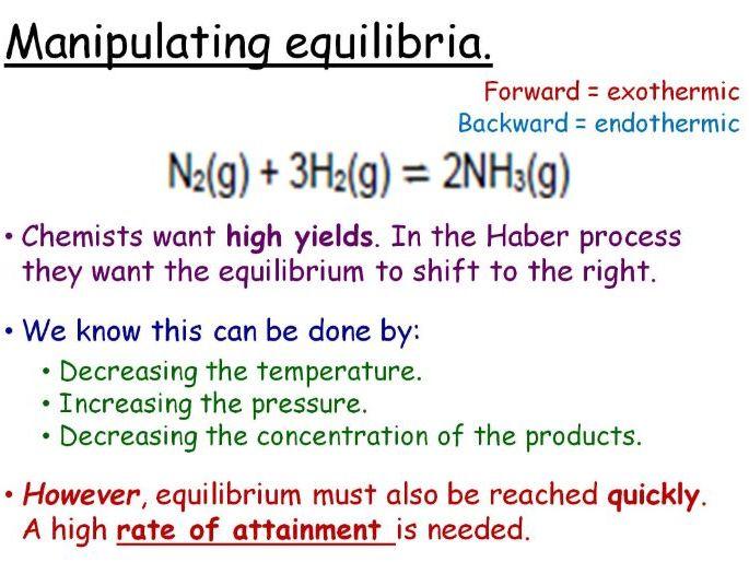 Factors Affecting Dynamic Equilibrium GCSE Lesson (SC15b) TRIPLE