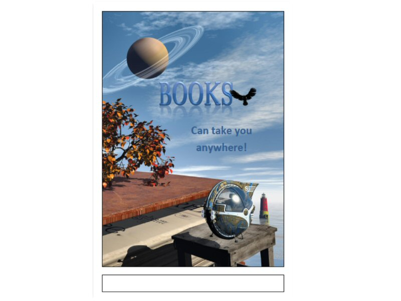 Book Fair Poster in A3 pdf format - General Fiction Theme 1