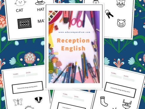Reception English Initial letters sound worksheets - perfect for homes school work.