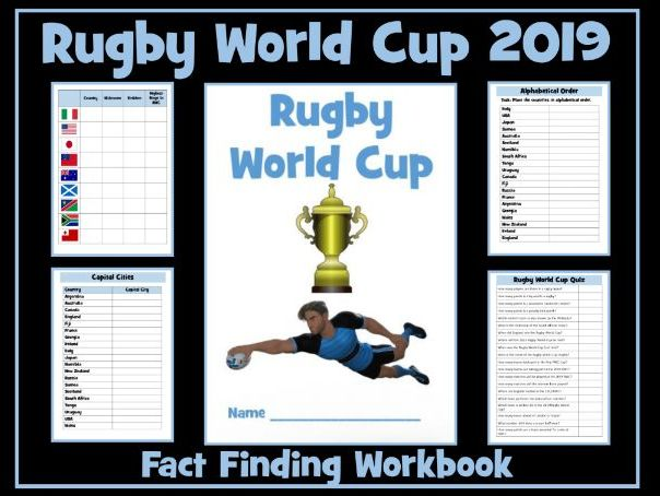 Rugby World Cup 2019 Workbook
