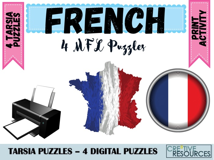 French MFL Tarsia Puzzles