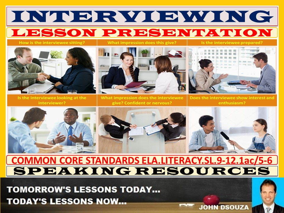 INTERVIEWING LESSON PRESENTATION