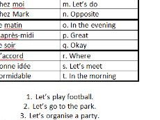 Arranging to go out: matching and translation