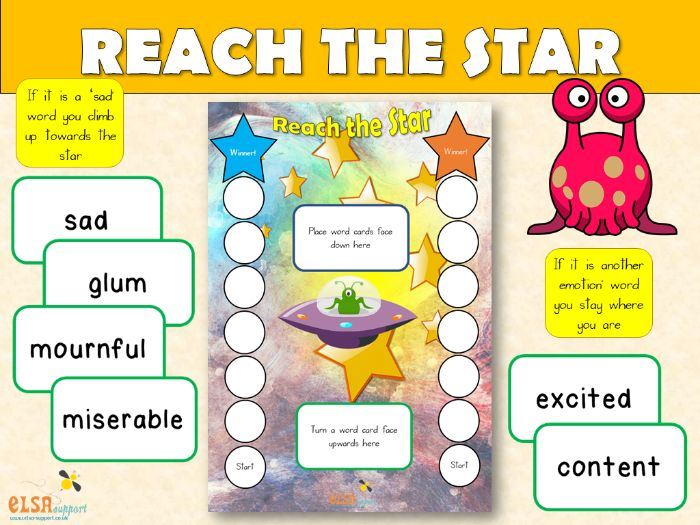 PSHE: Reach the Star game to learn about EMOTIONS