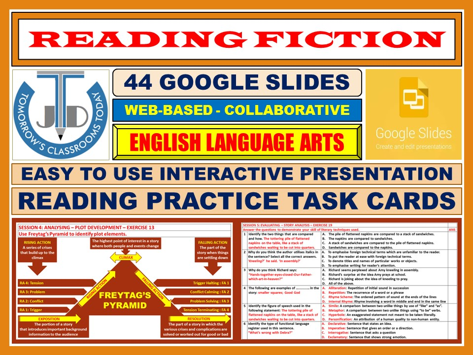 READING FICTION: 44 GOOGLE SLIDES