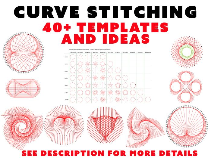 CURVE STITCHING - 40+ TEMPLATES AND IDEAS