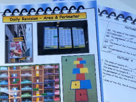 Real Life Maths Revision - Area,  Perimeter, Circumference photo worksheets