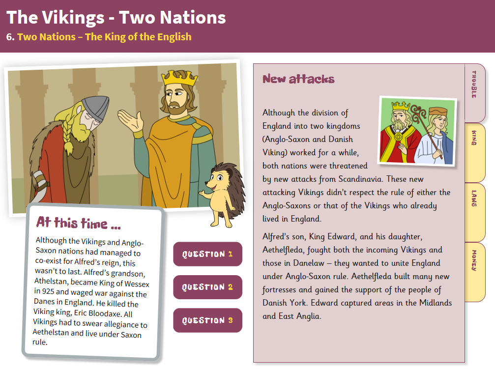 King of the English - Interactive Teaching Book - The Vikings KS2
