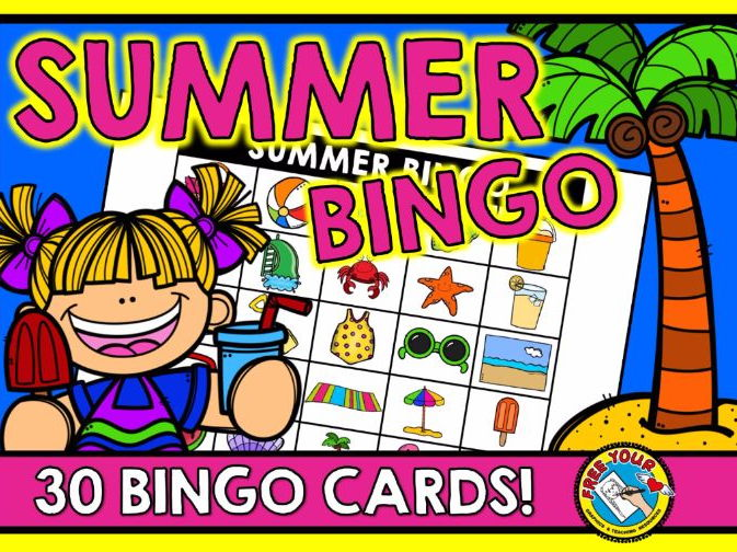 END OF YEAR ACTIVITIES (SUMMER BINGO GAME) SUMMER ACTIVITIES