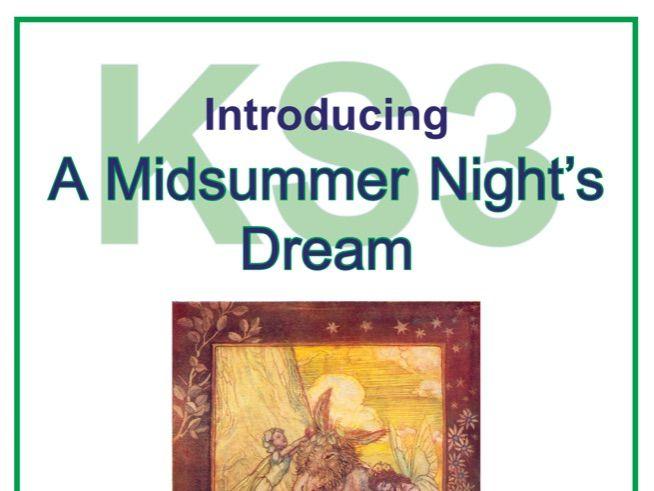 KS3 Introducing A Midsummer Night's Dream Scheme of Work
