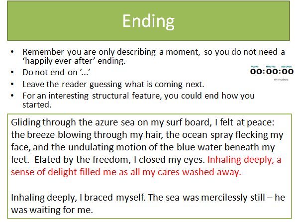 English Language Grade 9-1 Imaginative & Descriptive Writing