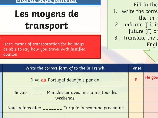 Holidays - Transports