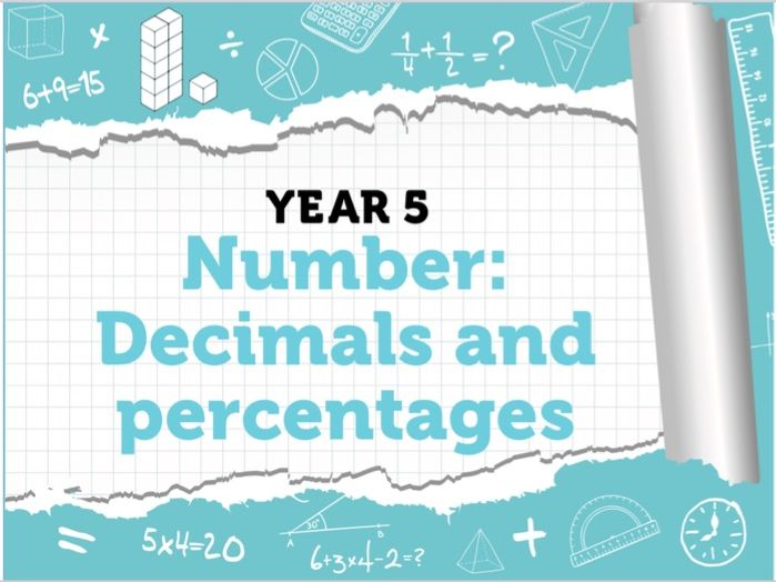 Year 5 Decimals and Percentages – White Rose Spring Week 11