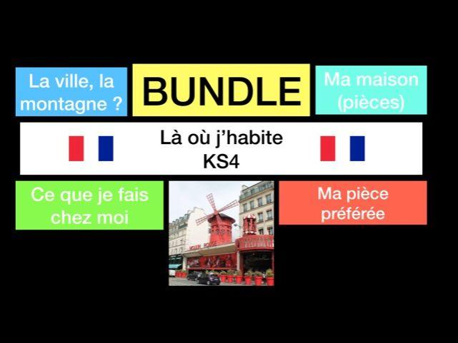 French - GCSE - là où j'habite (WHOLE UNIT - reading, speaking, translations, writing)