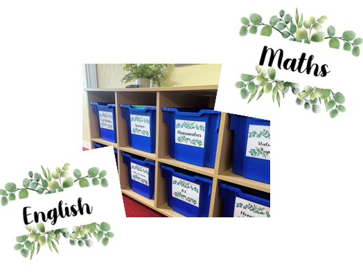 Leaf Display Labels - Subjects, Cupboards, etc
