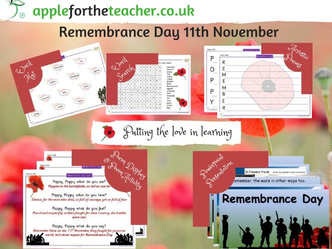 Remembrance Day Bundle of Activities