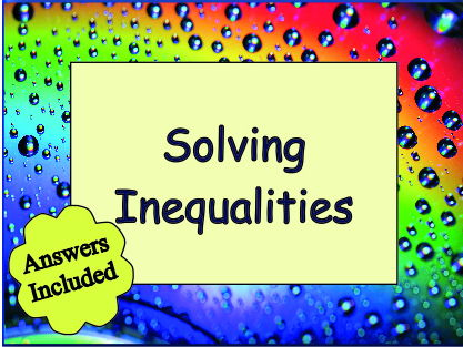 Solving Inequalities - 90 questions with answers
